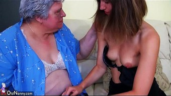 Big fat Granny with a cute girl  HD