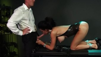 BDSM XXX Big breasted subs get chained up slapped and fucked  HD