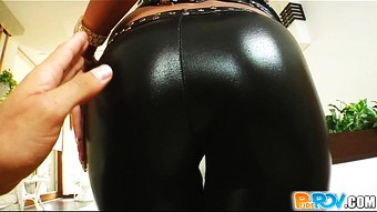 Pure Pov Leather loving chick gets pounded hard  HD