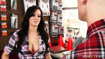 Thick big-tit cashier Mandy Haze fucks her customer in her store  HD