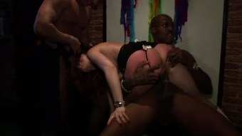 Interracial orgies at the local sex club