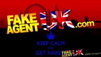 FakeAgentUK Massive cumshot glues busty euro babes eye shut