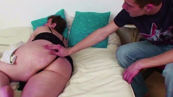 Mother Caught Step-Son Masturbate and let him Fuck her Anal