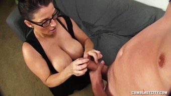 Big-titted Milf Splattered By A Young Man