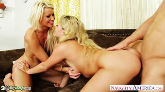 Blondes Anikka Albrite and Mia Malkova fucks