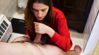Silk Satin Robe Handjob Blowjob