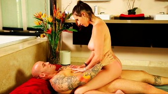 Nuru massage with a gorgeous busty masseuse