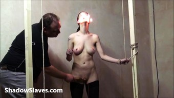 Gruesome facial bdsm of crying Emily Sharpe in bizarre wax