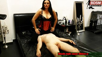 german bdsm femdom domina breeze control with a slave