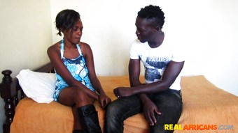 Skinny African Girlfriend Is Addicted to My Big Cock