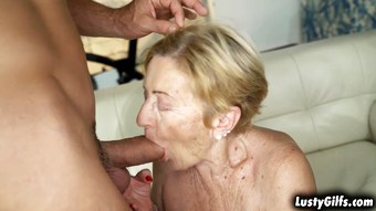 Cock hungry grandma Malya fucked by a hot stud